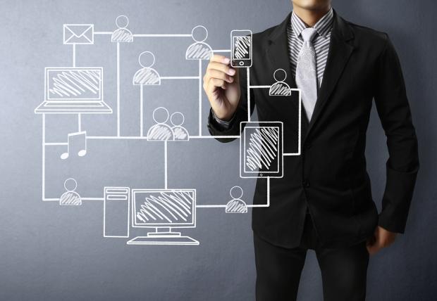 bigstock-Business-man-drawing-social-ne-36413080