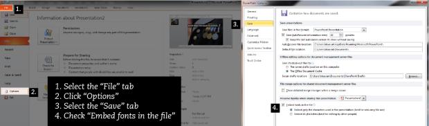 Embed custom fonts.