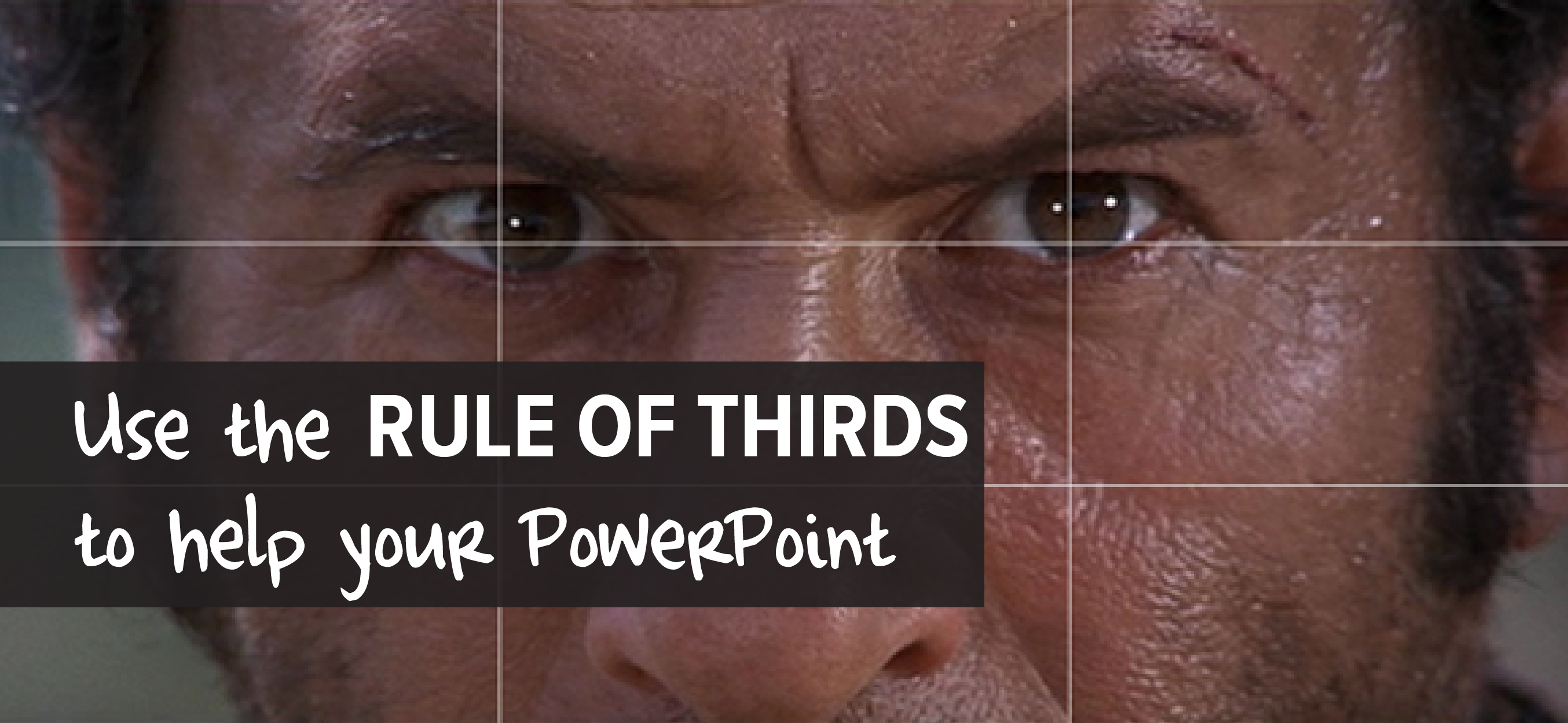 use the rule of thirds to help your powerpoint make a powerful point