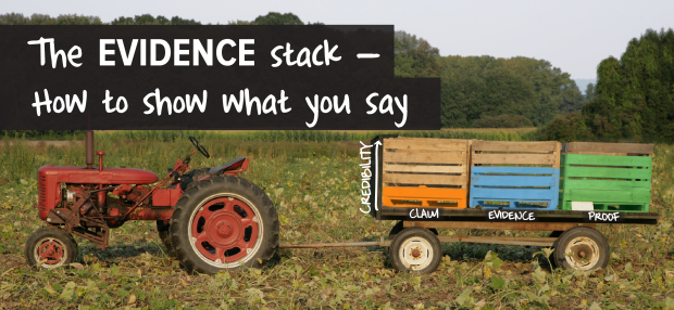The EVIDENCE stack — how to show what you say_ make a powerful point-01